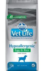 Фармина Vet Life Dog Hypoallergenic Egg & Rice диета для собак при пищевой аллергии, 12 кг