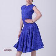 безупречное рейтинговое платье для конкурса синее