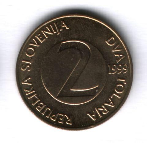 2 толара 1999 года Словения