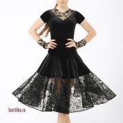Шикарное черное рейтинговое платье