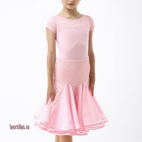 купить розовое платье для бальных танцев