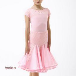 """Платье для спортивных танцев """"Арка"""", розовое"""
