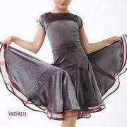 платье для спортивных бальных танцев бархатное