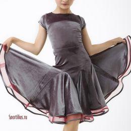 """Платье для спортивных танцев """"Арка"""" бархатное"""