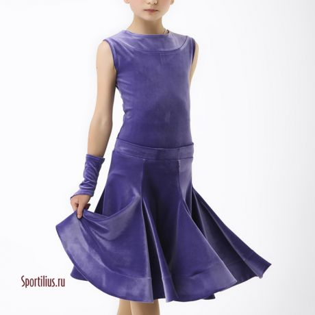 Сиреневое рейтинговое платье для танцев