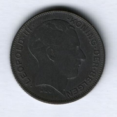 5 франков 1941 года Бельгия (Der Belgen)