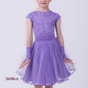 Платье для танцев цвета фиалки в интернет магазине