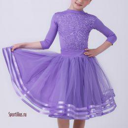 Платье танцевальное, сиреневое