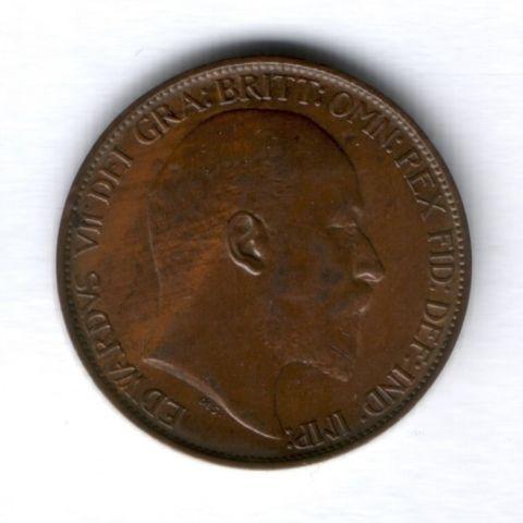 1/2 пенни 1905 года Великобритания AUNC