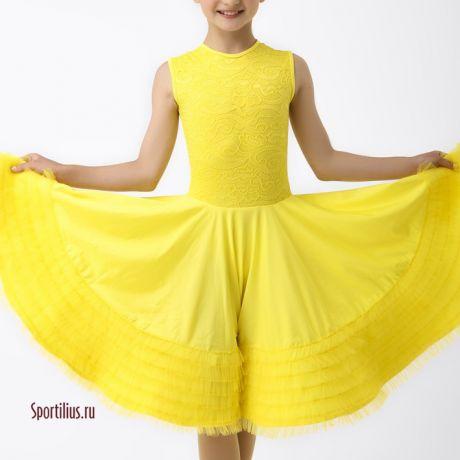 """Платье для бальных танцев """"Крем Y"""""""