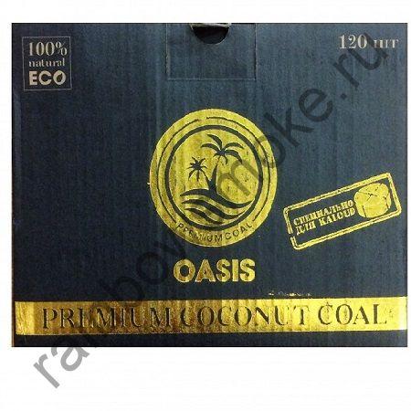 Уголь кокосовый для кальяна Oasis Flat (120шт для калауда)