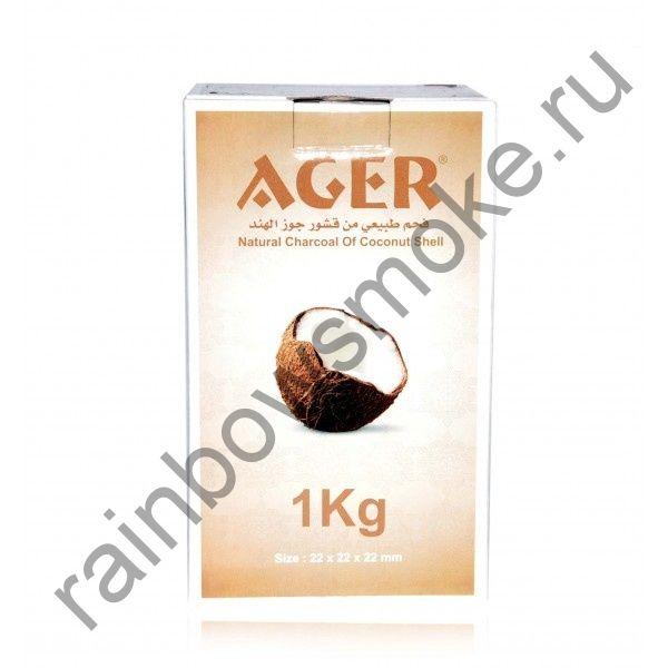Уголь кокосовый для кальяна Ager (96 шт)