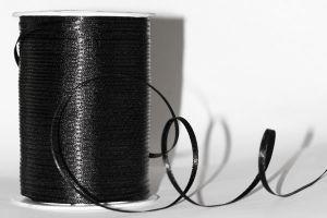 `Лента атласная, ширина 3 мм, цвет: черный