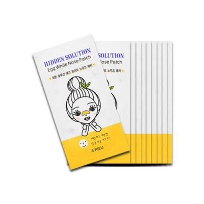 Очищающий пластырь для носа A'PIEU Hidden Solution Egg White Nose Patch