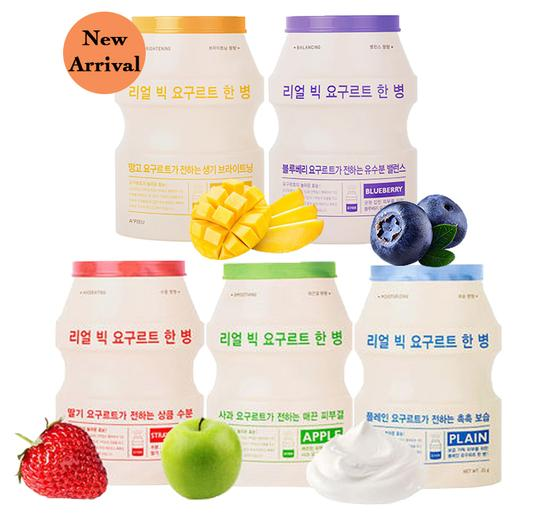Маска для лица тканевая йогуртная A'PIEU Real Big Yogurt One Bottle