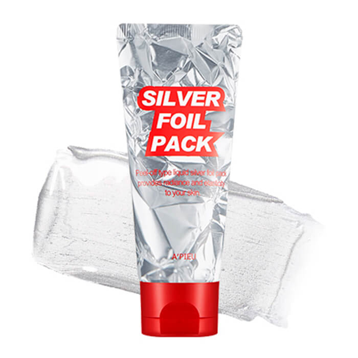 ЛИКВИДАЦИЯ! Маска-пленка для лица серебрянная A'PIEU Silver Foil Pack
