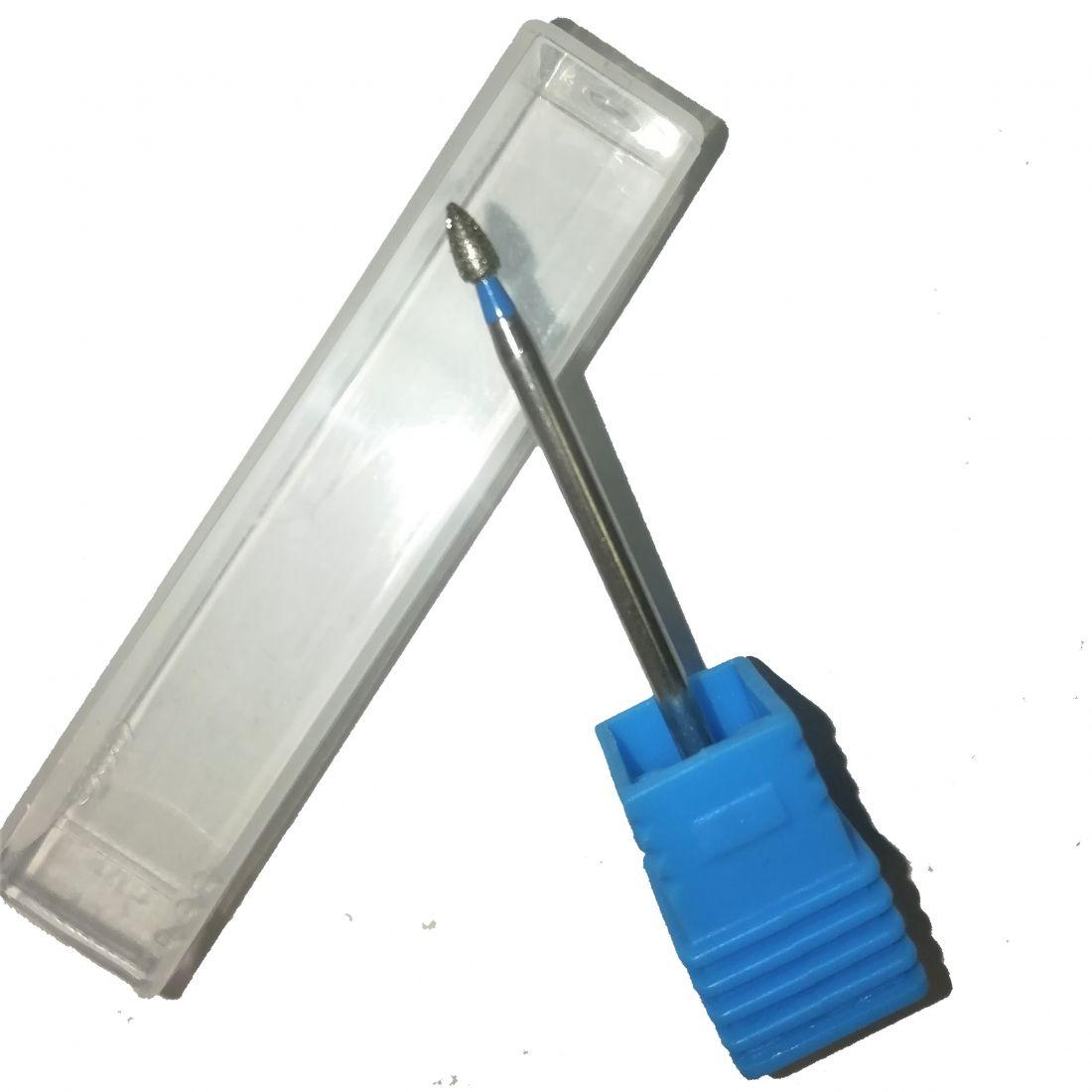 Алмазная фреза маленький конус синяя (2 мм) Арт. 84