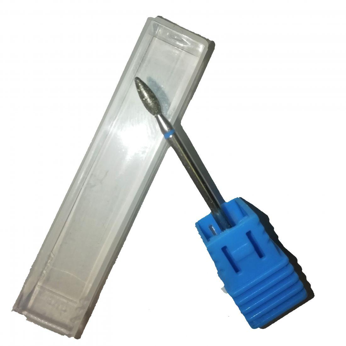 Алмазная фреза капля синяя (2 мм) Арт. 87