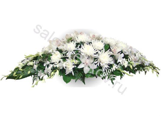 Траурная композиция из живых цветов N72