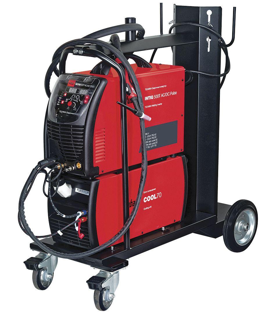 FUBAG INTIG 500 T AC/DC PULSE с горелкой FB TIG 26 5P 4m и модулем охлаждения и тележкой