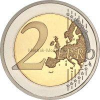 Франция 2 евро 2013, 150 лет со дня рождения Пьера де Кубертена (буклет)
