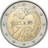 Франция 2 евро 2017, 100 лет со дня смерти Огюста Родена (буклет)