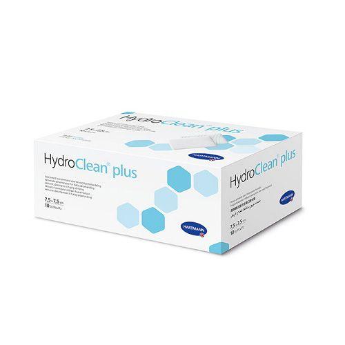 Повязка Гидроклин плюс (HydroClean plus ) с раствором Рингера, 7,5 х 7,5 см.