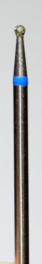 Бор алмазный, фреза средняя синяя шарик (1858)