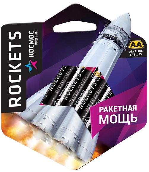 Элем.пит. Космос premium LR 6 BL-4 ROCKETS (48/576)