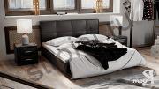 Кровать c мягкой обивкой тип 1 «Элис» Шоколад