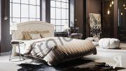 Кровать «Адель» с мягким изголовьем