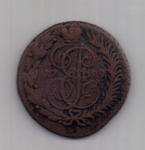 2 копейки 1789 года R! AM