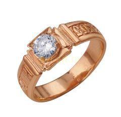 """Позолоченное кольцо """"Спаси и сохрани"""" (арт. 788053)"""