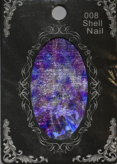 Фольга SHELL NAIL 008 vk-071 битое стекло