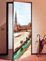 Наклейка на дверь  - Город серенад | магазин Интерьерные наклейки