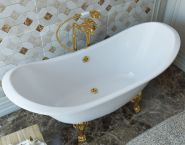 Ванна из литьевого мрамора Эстет Скарлетт 180x77 Белая