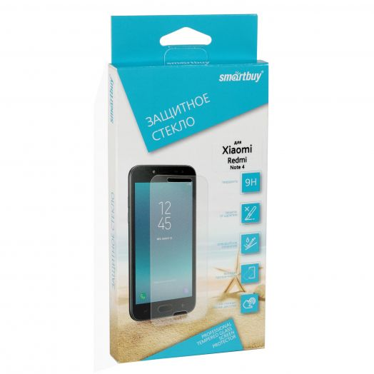 Защитное стекло Smartbuy для Xiaomi Redmi Note 4