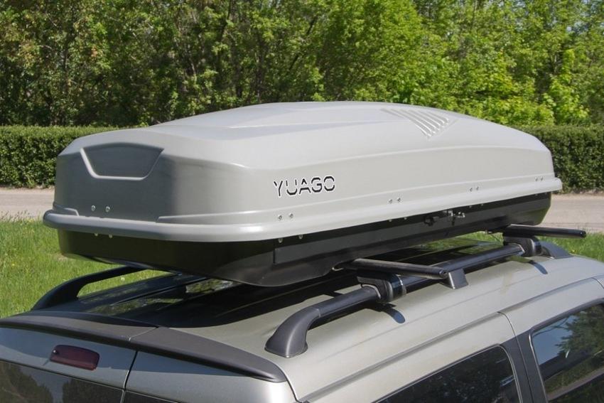 Автомобильный бокс на крышу Antares YUAGO, 580 литров, серый матовый