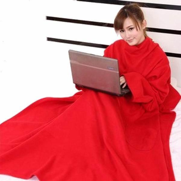 Одеяло-плед с рукавами Snuggle (Цвет: Красный)