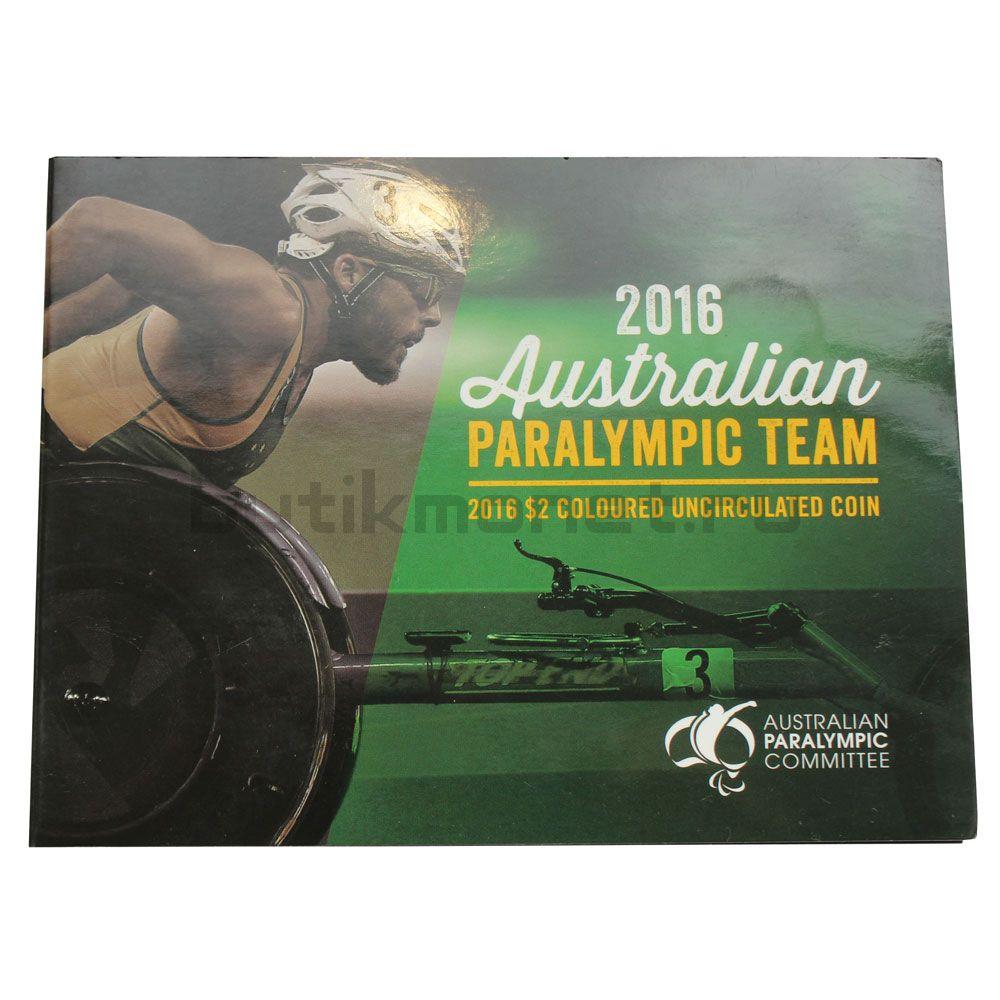 2 доллара 2016 Австралия XV летние Паралимпийские игры Рио-де-Жанейро