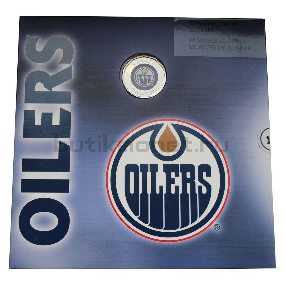 Годовой набор монет 2008 Канада Хоккей НХЛ, Эдмонтон Ойлерс (7 монет)