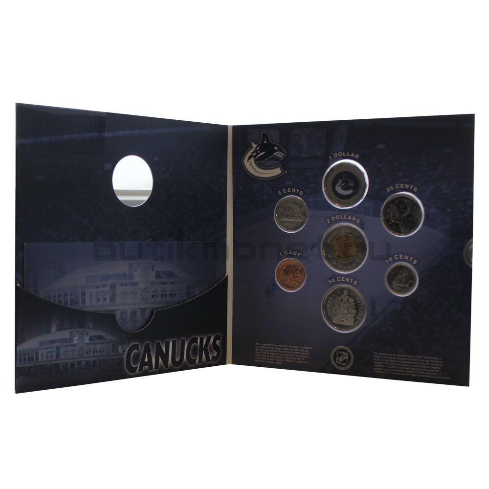 Годовой набор монет 2008 Канада Хоккей НХЛ, Ванкувер Кэнакс (7 монет)