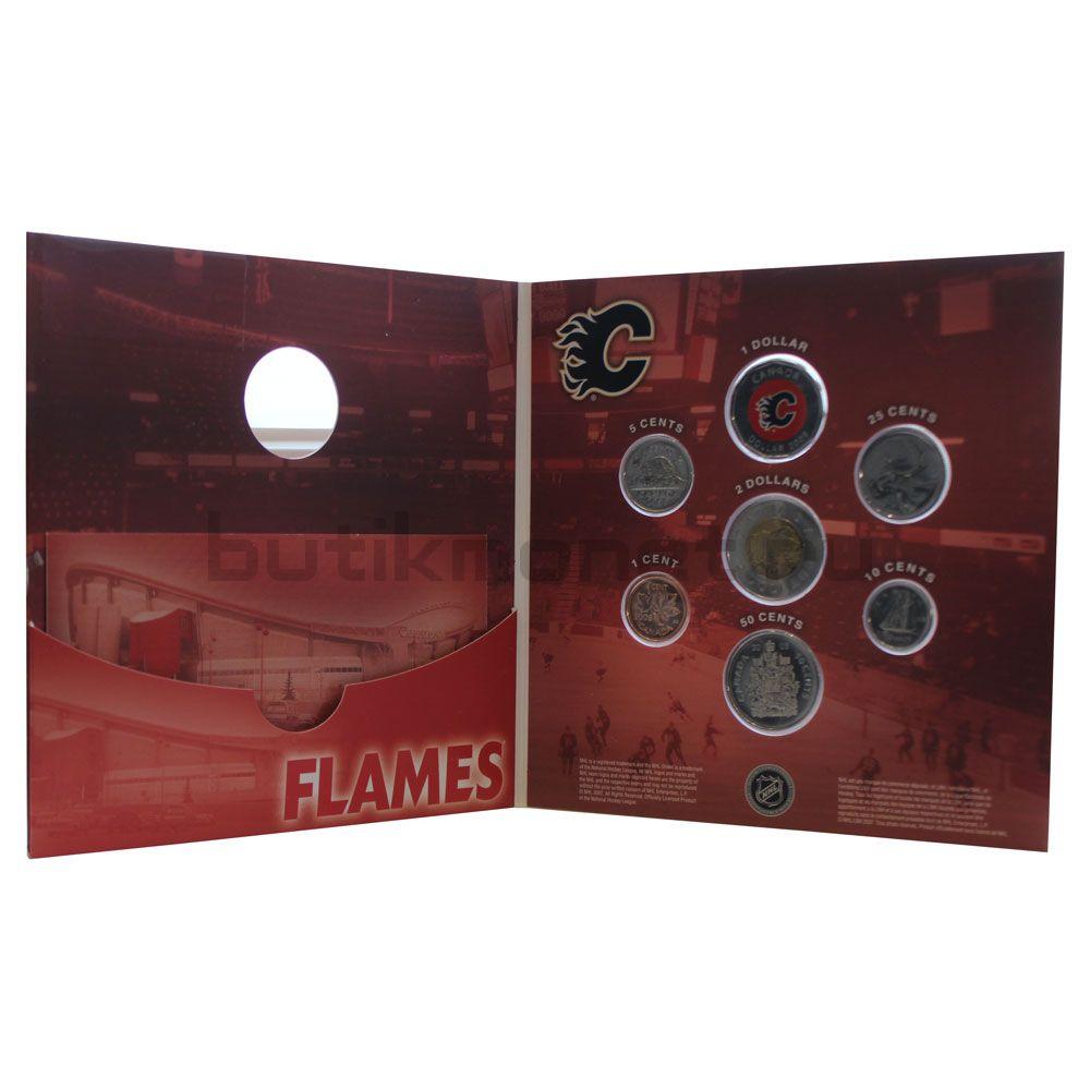 Годовой набор монет 2008 Канада Хоккей НХЛ, Калгари Флэймз (7 монет)