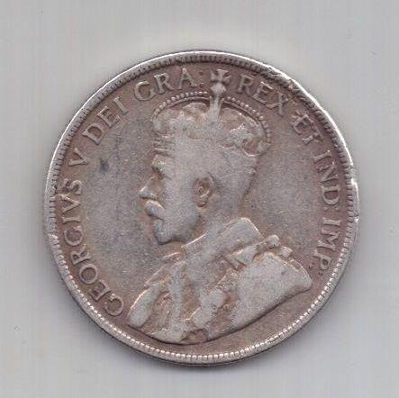 50 центов 1911 года Ньюфаундленд Великобритания