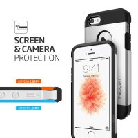Чехол Spigen Tough Armor для iPhone 5/5s/SE серебристый
