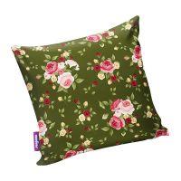 Подушка игрушка Нежные цветы зеленая