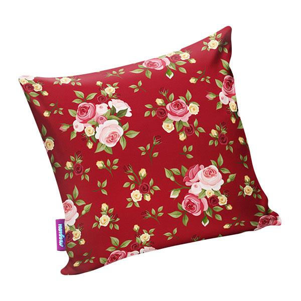 Подушка игрушка Нежные цветы красная