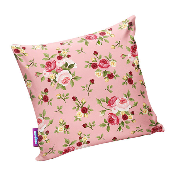 Подушка игрушка Нежные цветы розовая