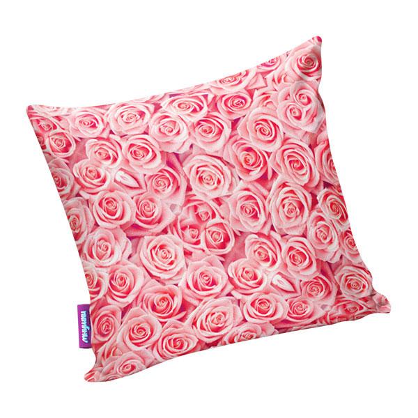 Подушка игрушка Чайная роза розовая