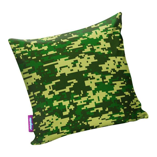 Подушка игрушка Камуфляж цифра макси зеленая